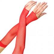 """Ръкавици дантелени """"LA FISHNET ARM RED"""""""