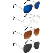 NuVew Aviator Sunglasses(Black, Blue, Brown, Clear, Blue, Violet)