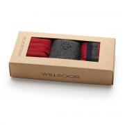 Set 3 perechi de șosete bărbătești, în culoarea gri-roșu 9939