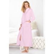 Womens Mia Lucce Zip Front Robe - Soft Pink Sleepwear Nightwear