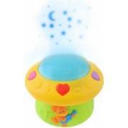 Lampa de veghe cu proiectie Led Senzor Voce si 12 melodii incluse pentru camera copilului