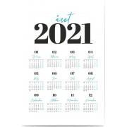 Optimalprint Fotoaffischer kalender, 1 st, blå, röd, modernt, Optimalprint