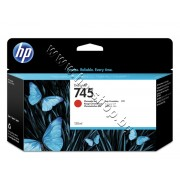 Мастило HP 745, Chromatic Red (130 ml), p/n F9K00A - Оригинален HP консуматив - касета с мастило