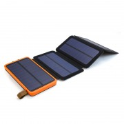 X-DRAGON XD-SC-002 Waterproof 10000mAh USB Solar Powered Phone Charger Portable Solar Power Bank - Orange