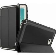 Husa Samsung Galaxy Tab A 10.1 T580 T585 flip cover activa pliabila cu 3 straturi protective negru