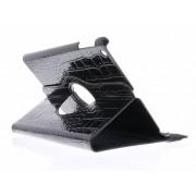 Zwarte 360º draaibare krokodil tablethoes voor de iPad Air