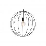 QAZQA Designerska lampa wisząca okrągła czarna 50 cm - Pelotas