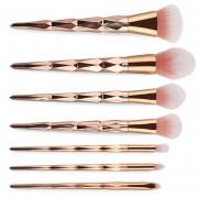 Pincel De Maquillaje MAANGE 7pcs Cosmetic Tools - Rose Gold