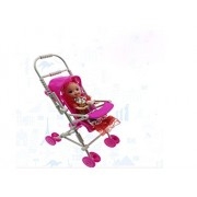 Ensure Life Mini Barbie Little Sister Kelly Baby Infant Stroller Carriage Mini Doll Stroller Toys DIY Assemble(Baby Not Include)