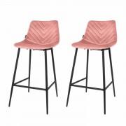 Riverdale Barstoel Lynn roze - set van 2