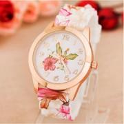 Wholesale Women Girl Watch Silicone Printed Flower Causal Quartz Wristwatch Women Orologio Donna Watch Women 2017 Ladies Watches