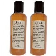 Khadi Honey and Vanilla Shampoo 210 ML (Pack of 2)