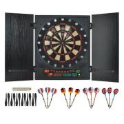 Set Joc Darts cu Tinta Electronica, 12 Sageti, 27 Jocuri, 175 Moduri, Afisaj LCD, Semnale Sonore si Luminoase