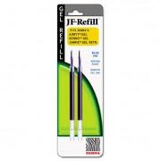 Jf Refill For Jimnie Gel Rt/sarasa/z-Grip Gel Roller Ball, Med, Be, 2/pack