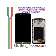Display LG G3 Optimus D855 Nero Vetro Touch Lcd Frame Schermo Originale