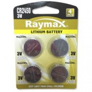 Raymax Batteries Batterie a Bottone Litio CR2450 (set 4 pz)