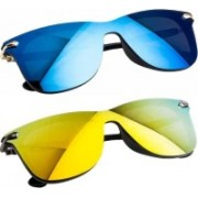 Adrian Rectangular Sunglasses(Blue, Yellow)
