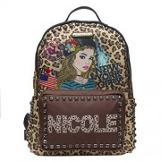 Nicole Lee Mochila de nylon RAELYN estampada
