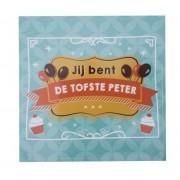 Wijnetiket Sticker - Jij bent de tofste Peter! Balloons & Cupcakes