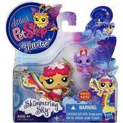 Littlest Pet Shop Fairies Shimmering Sky Rain Prism Fairy 2712 and Bat 2713