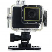 Anko F28B Cámara Deportiva 5.0MP 1080P 30M Waterproof LCD FHD Sports Camera EU Plug-Negro