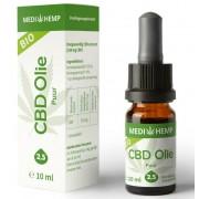 Biologische CBD olie Puur 2,5% 10 ml MediHemp