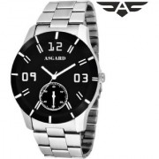 Asgard Round Dail Silver Stainless Steel StrapMens Quartz Watch For Men