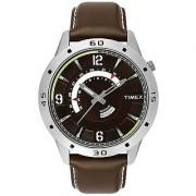 Timex Quartz Brown Round Men Watch TW000U910