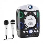 Auna Kara Projectura equipo de karaoke con proyector show de luces LED negro-gris (MG3-KaraProjecturaBK)