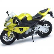 Welly Die-Cast Scale Model Motorcycle Collection - Bmw S1000Rr-Metallic Gold-1:18 Scale-Boxed