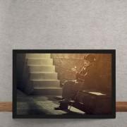 Quadro Decorativo Charles Chaplin Flor 25x35
