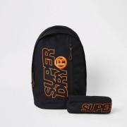 Superdry Mens Superdry Black Freshman backpack (One Size)
