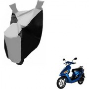 Intenzo Premium Silver and Black Two Wheeler Cover for Yo Bike Yo Spark