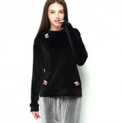 Aashish Garments - Black Velvet Women Sweatshirt