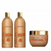 Kativa Argan Oil Pack: Champú (500ml) + Acondicionador (500ml) + Mascarilla (500ml)