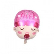 Balon folie cap bebe fata 45cm