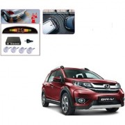 Auto Addict Car Silver Reverse Parking Sensor With LED Display For Honda BRV