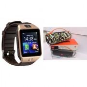 Mirza DZ09 Smart Watch and Mini Xtreme K5 + Bluetooth Speaker for LG OPTIMUS L3 II DUAL(DZ09 Smart Watch With 4G Sim Card Memory Card| Mini Xtreme K5 + Bluetooth Speaker)