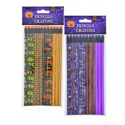 Halloween Pencils (24 count) and Halloween Cellophane Loot Bags (25 counts)