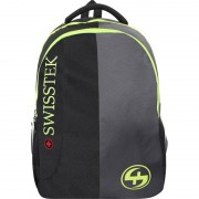 Swisstek laptop back pack with rain cover 25 L Laptop Backpack (Black, Grey)