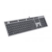 Tastatura silentioasa USB A4TECH, 2x USB ports, dark grey (KV-300H)