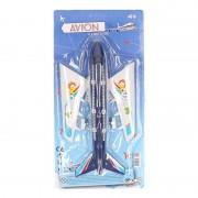 Geen Blauw speelgoed vliegtuig 38 cm