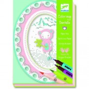 Djeco Small She Bear Paper Lace Coloring Boards with Felt Pen