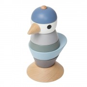 Sebra Stapelklossar Fågel Denim blue