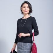 東京ソワール ブロッキングデザイン プルオーバー【QVC】40代・50代レディースファッション