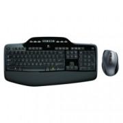 Комплект клавиатура и мишка Logitech Wireless Desktop MK710, безжични, USB, черни