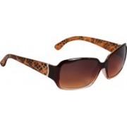 De Glazen Over-sized Sunglasses(Brown)