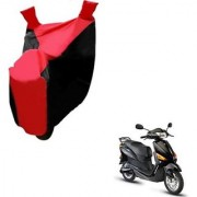 Intenzo Premium Red and Black Two Wheeler Cover for Hero Electric Optima Plus