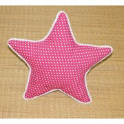 Oscar Home Star Shape Cotton Fabric Pink Pillow Stuffed Toys For Babies and Kids