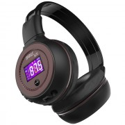 ZEALOT B570 HiFi Bluetooth Headphone with Mic Support FM Radio Micro-SD Card - Brown